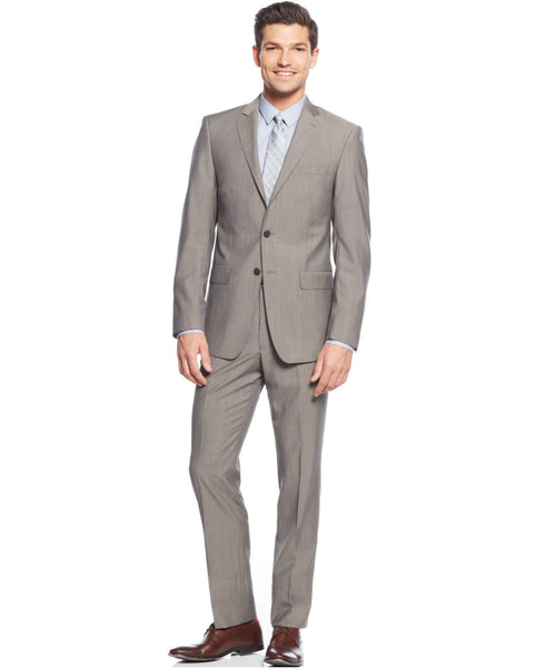 Calvin Klein Men's Textured Wool Suit