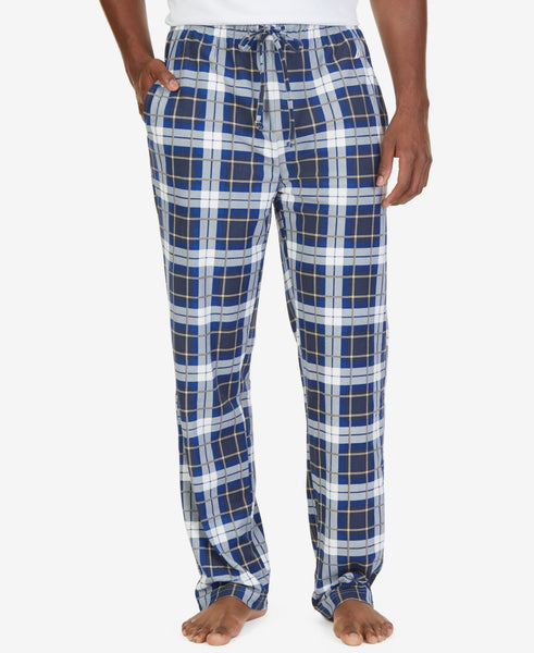 Nautica Men's Plaid Sueded Fleece Pajama Pant