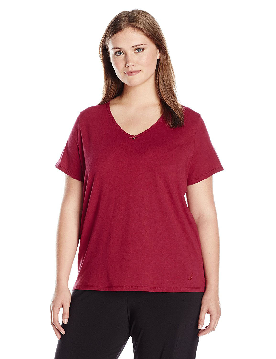 fcfd6d1ddfd Nautica Women s Plus Size V-Neck Pajama T-Shirt – Retail Trunk