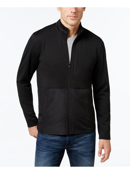 Alfani Men's Colorblocked Nylon Jacket, Black L