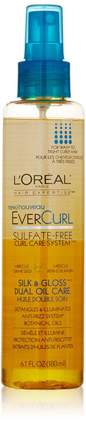 L'Oreal Paris EverCurl Silk and Gloss Dual Oil Care, 6.1 Fluid Ounce