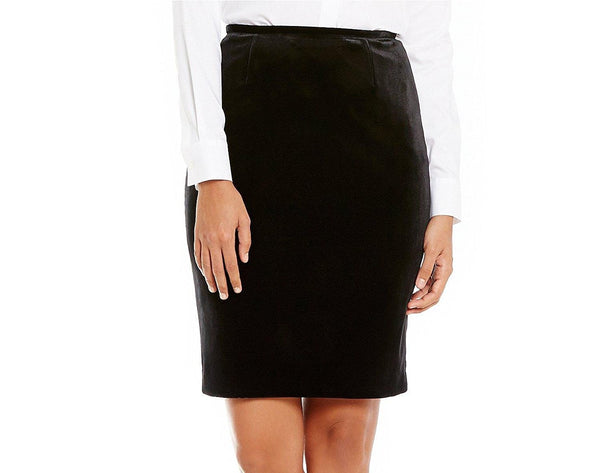 Calvin Klein Women's Petite Velvet Pencil Skirt