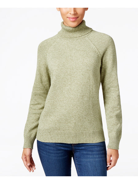 Karen Scott Marled Turtleneck Sweater, Hazel Marl, Medium
