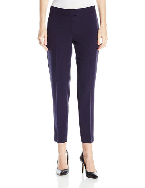Anne Klein Women's Crepe Bowie Slim-Fit Pants