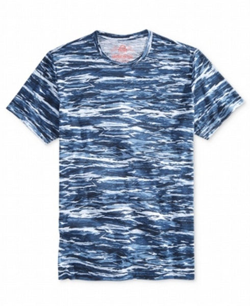 American Rag Men's Camo Mountain T-Shirt, Basic Navy, Large