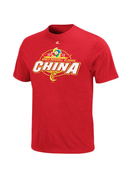 Majestic China Red 2013 World Baseball Classic T-Shirt