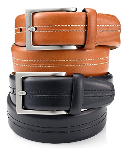 Tasso Elba Men's 35mm Vachetta Casual Belt