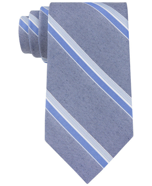 Calvin Klein Color Denim Stripe Slim Tie