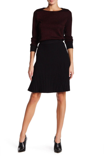 Anne Klein Women's Pleated Sweater Skirt