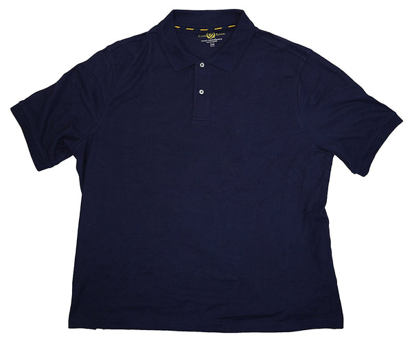 Club Room Men's Big & Tall Pique Polo Shirt, Navy 2XB