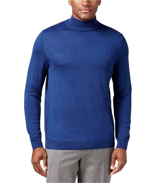 Club Room Men's Mock-Neck Sweater, Blue Heather XXL