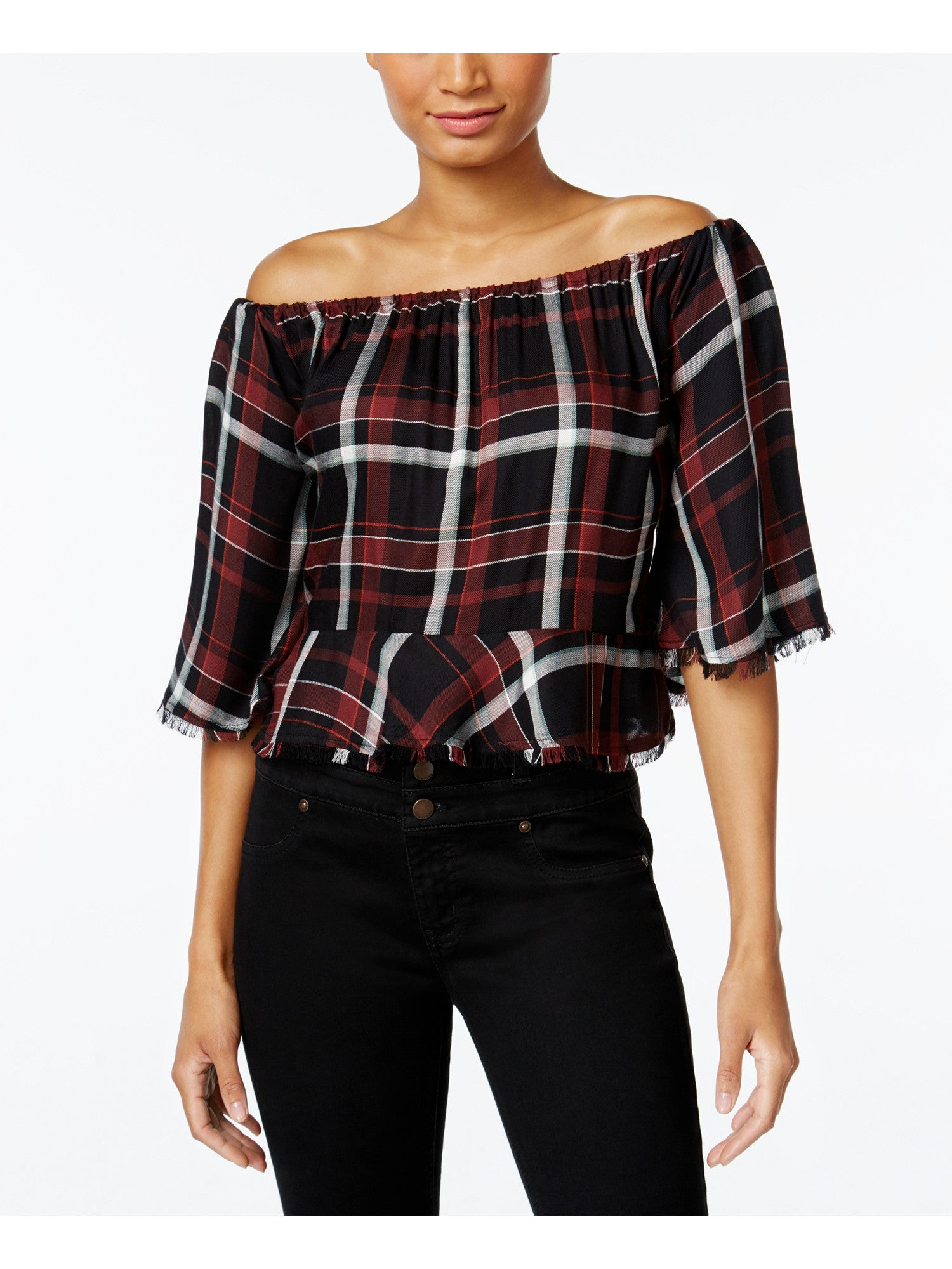 9f4df2d8075 Buffalo David Bitton Sealey Off-The-Shoulder Top