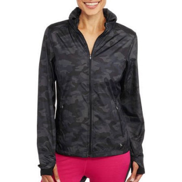 Danskin Now Women's Active Wind Jacket,Camo Print