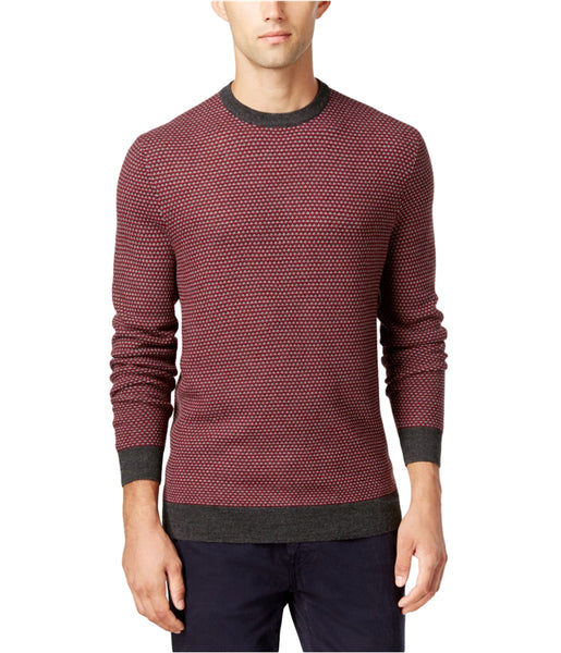 Club Room Men's Merino Wool Blend Pattern Pullover Sweater, Red Multi XXL