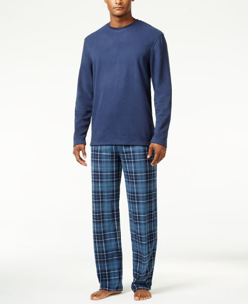 Club Room Men's Fleece Pajama Set