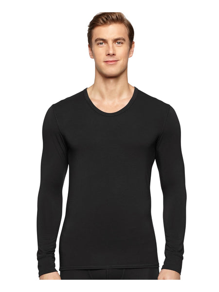 Calvin Klein Men's Thermal Long Sleeve Top, Black, Large