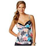 Coco Reef Women's Floral-Print Sweetheart Tankini Top