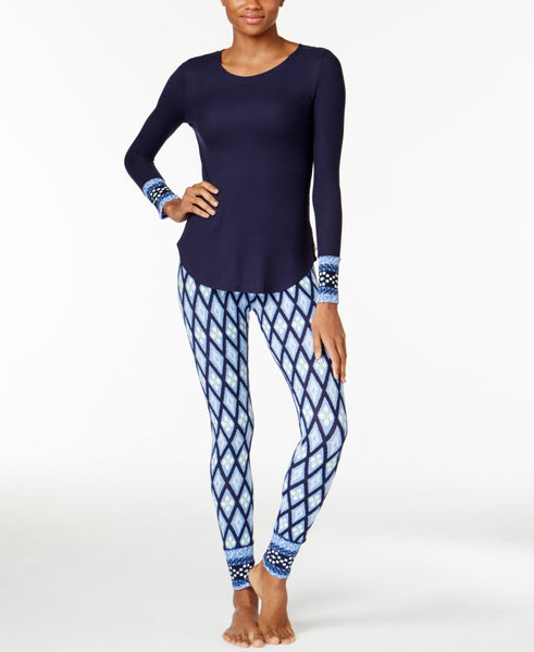 Lucky Brand Women's Printed Thermal Pajama Set