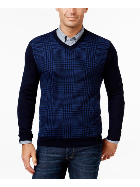 Club Room Mens Wool Houndstooth Pullover Sweater