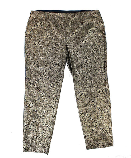 Alfani Plus Size Metallic Pull-On Skinny Pants