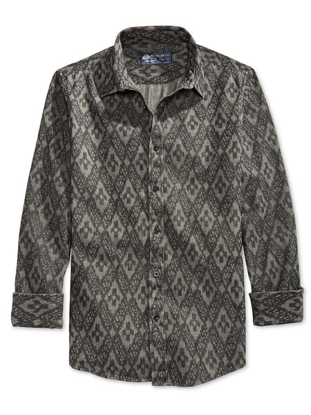 American Rag Men's Geo-Print Long-Sleeve Shirt