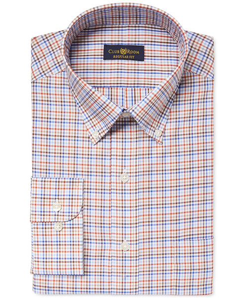 Club Room Men's Estate Autumn Twill Check Dress Shirt