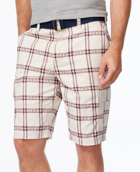 American Rag Men's Southwest Classic-Fit Plaid Cargo Shorts