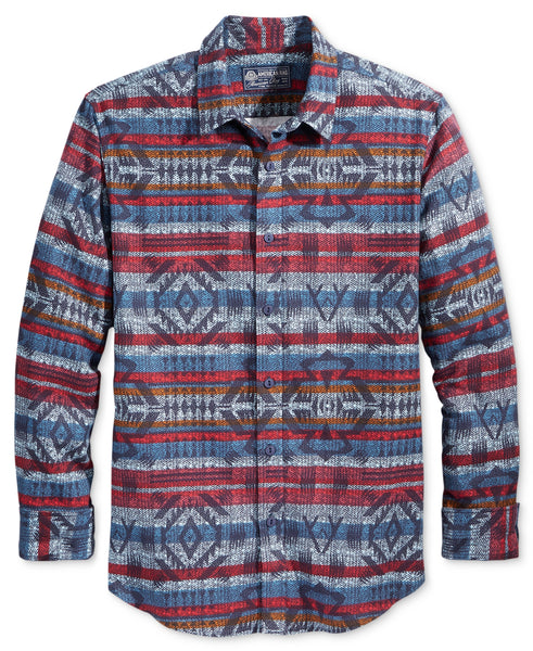American Rag Men's Blanket Print Flannel Shirt
