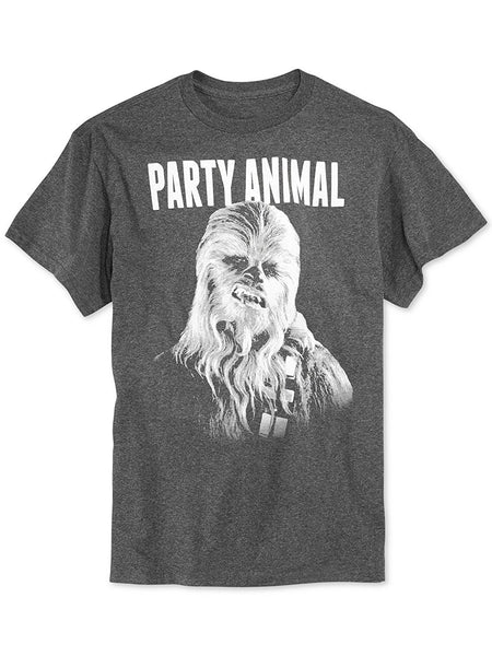 Fifth Sun Star Wars Party Animal T-Shirt, Charcoal Heather XL
