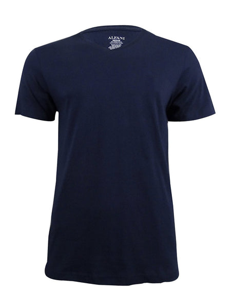 Alfani Men's V-Neck T-Shirt, Navy Small