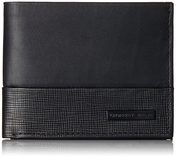 Geoffrey Beene Men's Benton Double Billfold Wallet, Black, One Size
