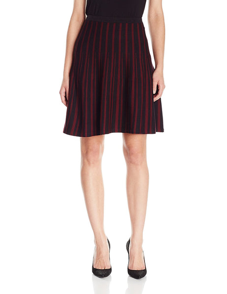 Anne Klein Women's Striped A-Line Sweater Skirt