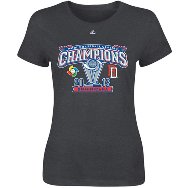 Majestic Dominican Republic 2013 WBC Champions Women's T-Shirt