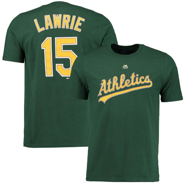 Majestic Brett Lawrie #15 Oakland Athletics T-Shirt