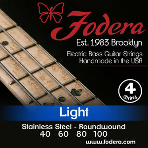 Fodera 4-String Set - Stainless Steel Roundwound Light