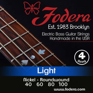 Fodera 4-String Set - Nickel Roundwound Light