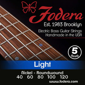 Fodera 5-String Set - Nickel Roundwound Light