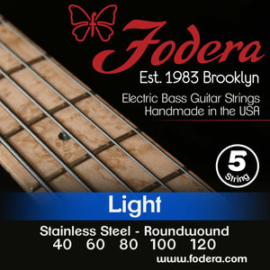 Fodera 5-String Set - Stainless Steel Roundwound Light