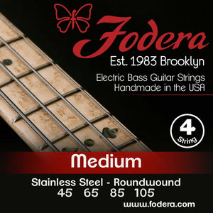 Fodera 4-String Set - Stainless Steel Roundwound Medium
