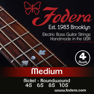 Fodera 4-String Set - Nickel Roundwound Medium
