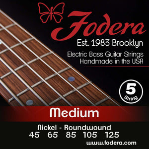 Fodera 5-String Set - Nickel Roundwound Medium
