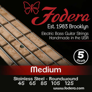 Fodera 5-String Set - Stainless Steel Roundwound Medium