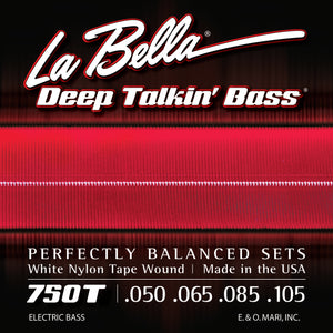 La Bella 750T White Nylon Tape Wound - 4 String, XL Scale 50-105