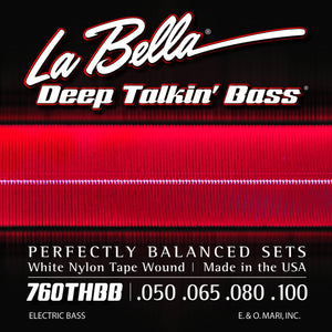 "La Bella 760THBB ""Beatle"" Bass White Nylon Tape - 4 String 50-100"