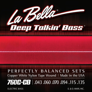 La Bella 760C-CB Copper White Nylon Tape - 6 String 43-135