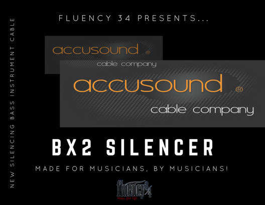 "Accusound BX2 Silencer Bass Instrument Cable 18' 1/4"" to 1/4"" Right Angle"