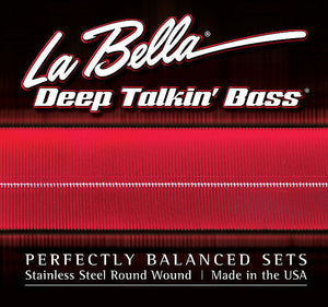La Bella 760RL-B Stainless Steel Round Wound - 5 String, 41-128