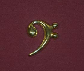 Bass Clef Necklace by Shauna Leigh Designs - BRONZE