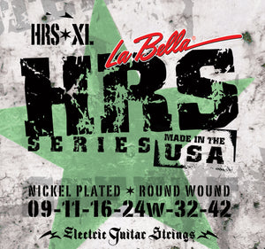 La Bella HRS-XL Nickel Rounds – Extra Light 09-42