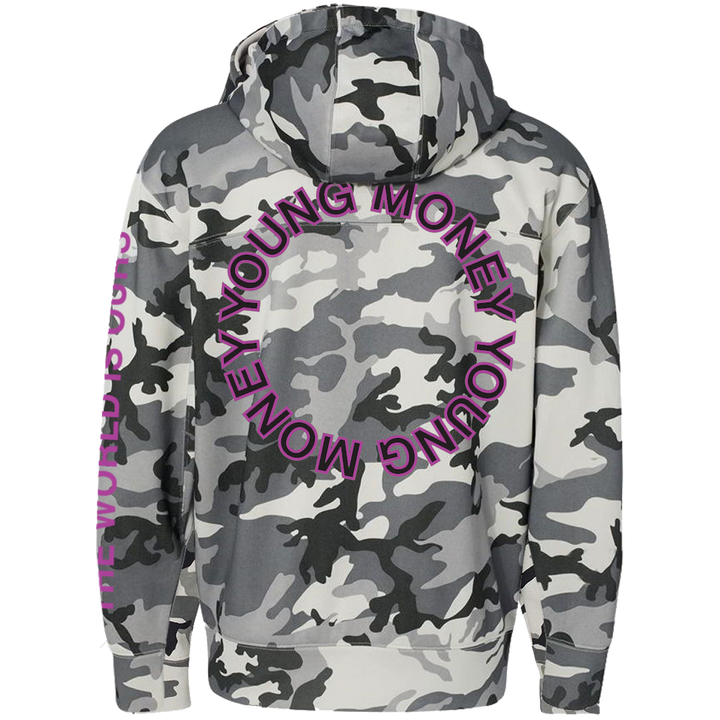 Young Money The World is Ours Snow Camo Hoodie